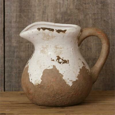 Small Primitive Black Star Crock with Handles Ceramic Country Farmhouse