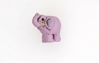 Hand Painted Ceramic Pink Elephant Beads for Earrings for Bracelets