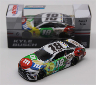 Nascar 2018 Kyle Busch #18 White Chocolate M&ms Candy 1/64 Car In Stock
