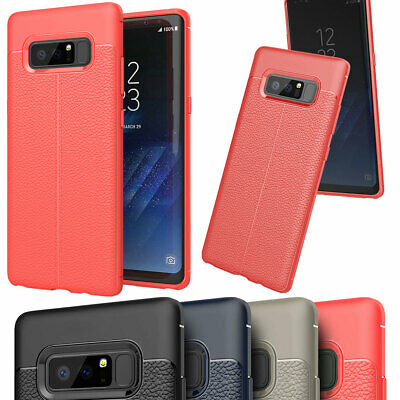 Slim Hybrid Leather Case Rubber Bumper Lightweight For Samsung Galaxy Note 8 9
