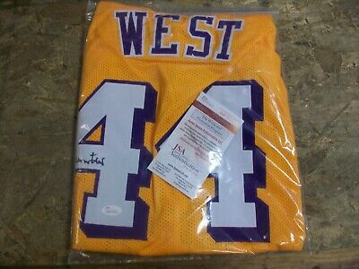 5a12f6213 Los Angeles Lakers Jerry West Signed-Autographed Yellow Custom Jersey Jsa  Cert