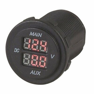 TechBrands Dual Battery LED Voltmeter FREE Global Shipping
