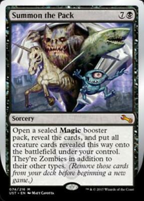 WOTC Mtg Unstable Summon the Pack (MR) (Foil) NM