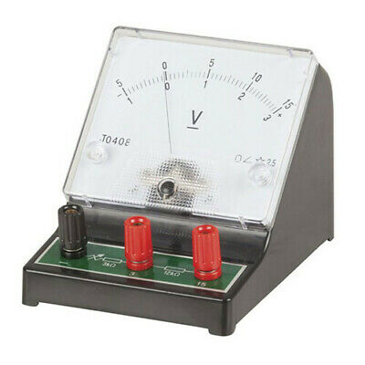Handy Portable Lightweight Analogue Bench Voltmeter 0-15V for Automotives