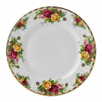 """Royal Albert Old Country Roses - Set of 6 x 8"""" Dessert/Salad Plates - Made in UK"""