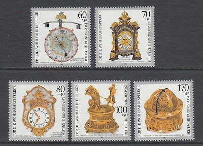 GERMANY - 1992 HUMANITARIAN RELIEF fund  set of 5  MNH - CLOCKS