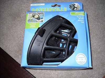 Baskerville Size 6 Ultra Dog Basket Muzzle Adjustable Dog Muzzle Black