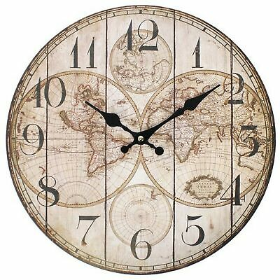 Something Different 34cm Vintage Map Clock (SD1065)