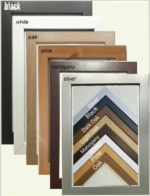 Photo Picture Poster Frames Black Light Oak Oak Dark Oak Mahogny White Silver