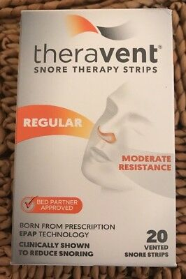 Theravent Regular Snoring Therapy - 20 Night Supply Exp 6/2020 FREE SHIPPING