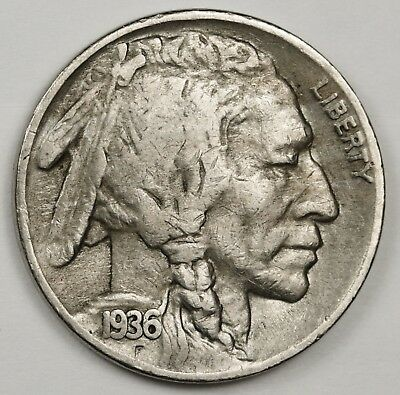 1936-s/s  Buffalo Nickel.  Error.  Fine.  123877