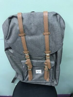 Herschel Supply Co. Little America Backpack Back Pack Canteen Crosshatch  Tan NEW 8908b20674928