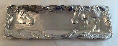 "17.5"" Attractive Arthur Court Horse Oblong Serving Tray Western Equestrian"