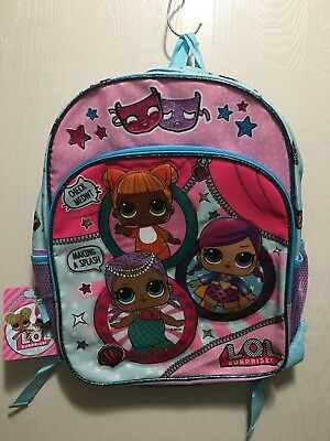 """LOL Surprise Pink Blue Glitter Girls Theater Club 16"""" Backpack CYBER MONDAY  DEAL 3f3c7755e3cc3"""