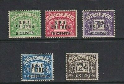 1948 Eritrea British SG ED 1/5 MUH Set 5