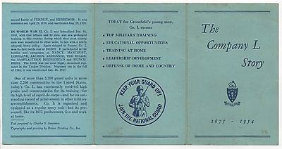 RARE COMPANY L HISTORY Brochure 26TH INFANTRY Yankee Division GREENFIELD MASS MA