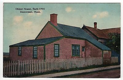 NANTUCKET ISLAND PC Postcard MASSACHUSETTS Siasconset Oldest House SCONSET MASS