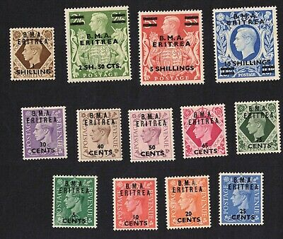 1948 Eritrea British SG E 1/12 Set MLH