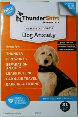 Thundershirt Dog Anxiety Calming and Treatment Jacket XL Solid Gray HGXL-T01 NEW