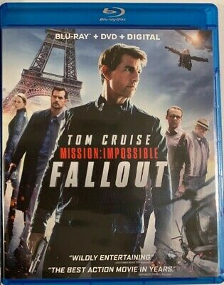 BLU-RAY Mission: Impossible - Fallout (Blu-Ray/DVD) NEW Tom Cruise