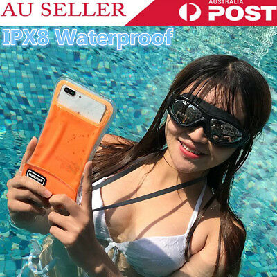 Universal IPX8 Waterproof Floating Phone Dry Bag Case Underwater Diving Pouch AU