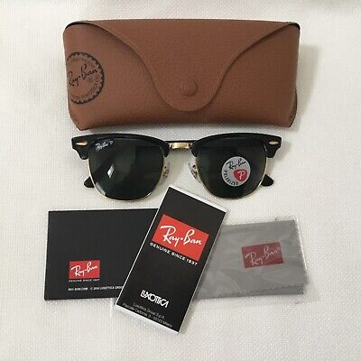 6e6acde9e6 NEW RAY BAN Sunglasses CLUBMASTER Black Frame RB 3016 901 58 ...