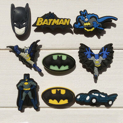 9-10pcs/lot Batman PVC Shoe Charms Accessories fit in Shoes & Bracelets Gifts