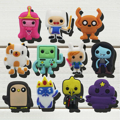 11pcs/lot Adventure Time PVC Shoe Charms Accessories fit in Shoes & Bracelets