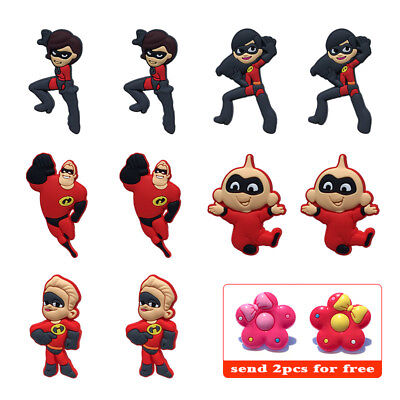 10PCS/Lot The Incredibles Shoe Charms Accessories Christmas Gifts For Kids