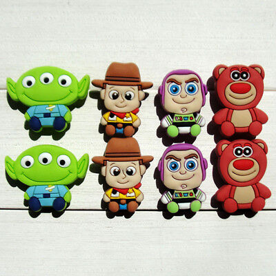 8-13pcs/lot Toy Story PVC Shoe Charms Accessories fit in Shoes & Bracelets Gifts