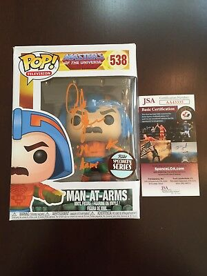 Alan Oppenheimer Signed Man At Arms He-Man Funko Pop JSA COA Autographed Auto