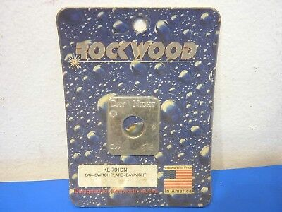 Rockwood KE-701DN,Stainless Steel  Switch Plate Day/Night Emblem,NEW