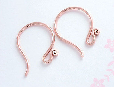 Karen Hill Tribe Silver Rose Gold Vermeil Style 2 pairs Earring Wires .