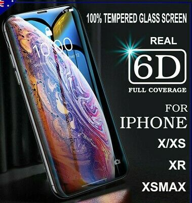 2X 6D Tempered Glass Screen Protector For Apple iPhone 6s 6 7 8 PLUS X XR XS Max