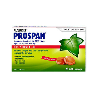 Flordis Prospan Chesty Cough Relief Soft Lozenges x 20 Pack Respiratory