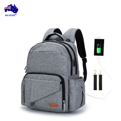 Luxury Multifunctional Waterproof Baby Diaper Nappy Backpack with USB port