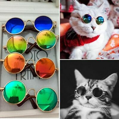 Cute Pet Dogs Cat Goggles Mirrored Lens Sunglasses Eye Wear Protection Glasses
