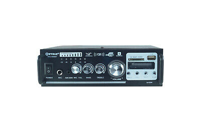 Amplificatore audio stereo 2 canali 2 bluetooth usb sd mp3 karaoke wg-806bt