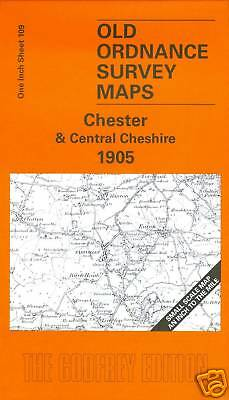 Old Ordnance Survey Map Chester & Central Cheshire 1905