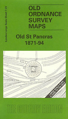 Old Ordnance Survey Map Old St Pancras 1871-1894