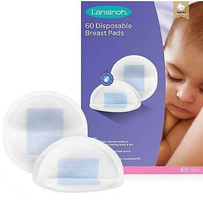 Disposable Nursing Breast Pads Individually Wrapped Pack of 60 Lansinoh