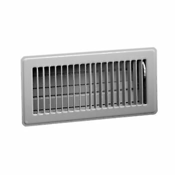Hart & Cooley Steel Floor Register  White 4x10, 4x12,4x14 (sold 2 in a pack)