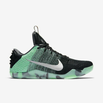 more photos 13f98 c3d3b Nike Kobe 11 XI Elite Green Glow Low ASG All Star 822521-305 Size 14