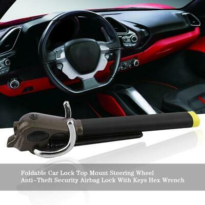 Universal Heavy Duty Car Van Steering Wheel Lock Anti Theft Security Safe 3 Keys