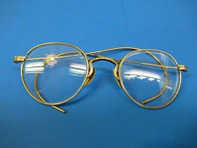 ced3667af0b Vintage Durex Eye Glasses Spectacles 1 10 12K Gold Filled Round Circular  Nice !