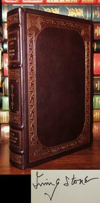 Stone, Irving LUST FOR LIFE Signed 1st Franklin Library 1st Edition 1st Printing