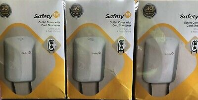 Safety 1st Outlet Cover With Cord Shortener Bundle Of 3