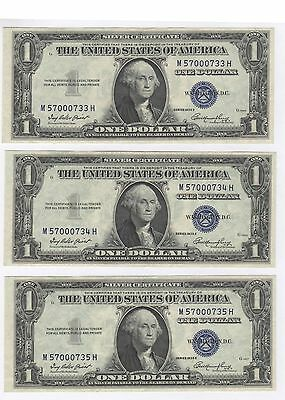 Set Of 6 - 1935E $1 One Dollar Silver Certificates. 6 Consecutive Serial Numbers