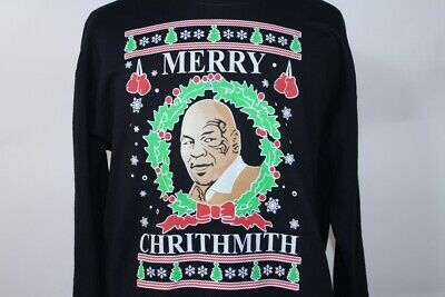 Mike Tyson Merry Christmas.Merry Christmas Chrithmith Funny Ugly Xmas Sweater Boxing Boxer Mike Tyson