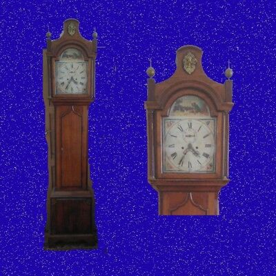 Mahogany and Oak Pagoda Top Regency Long Case Clock  1820